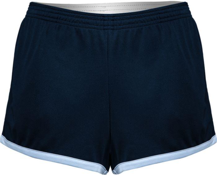 Navy/White Mesh Short with White Logo