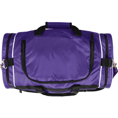 purple duffle