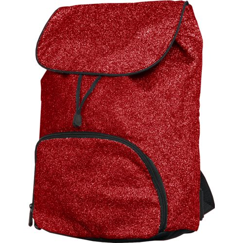 Glitter Backpack Red Black