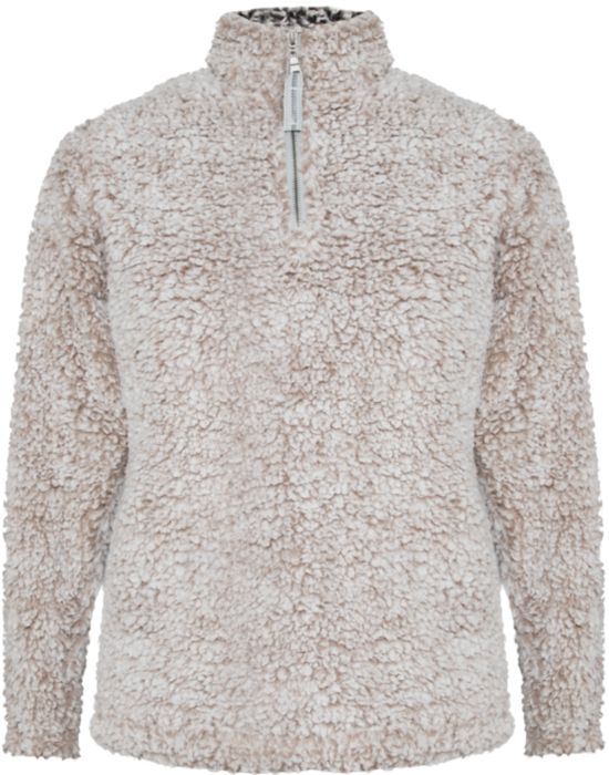 Oatmeal Sherpa 1/4 Zip Pullover