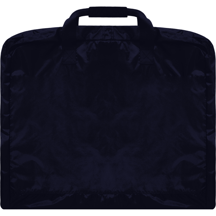 Navy Garment Bag with Silver Glitter Logo