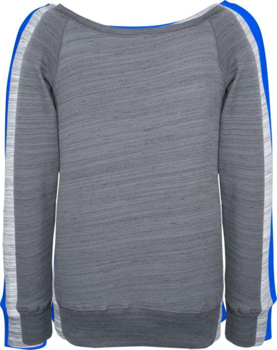 Wideneck Sweatshirt in Red w/ Screen Print Logo