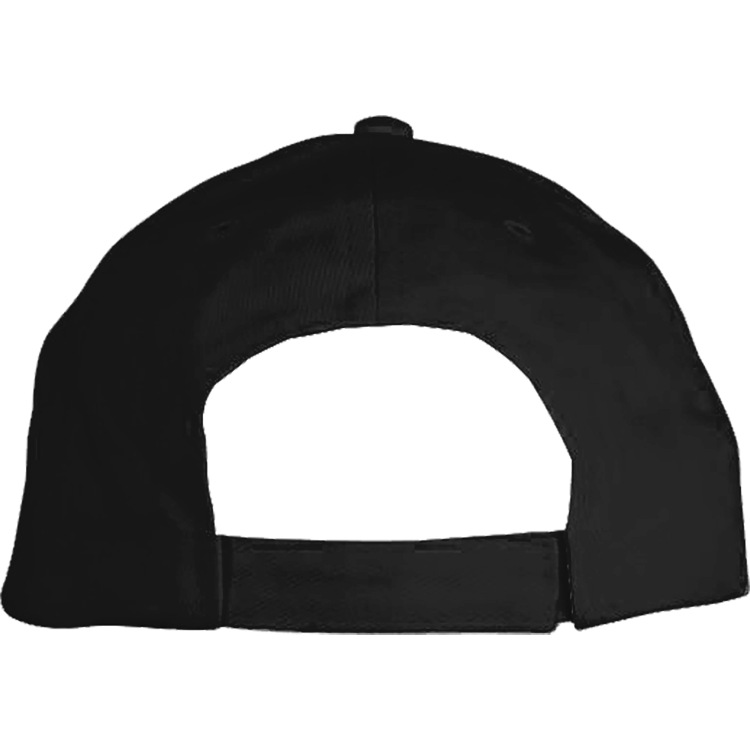 BLACK EMBROIDERED SOLID BRUSHED TWILL HAT