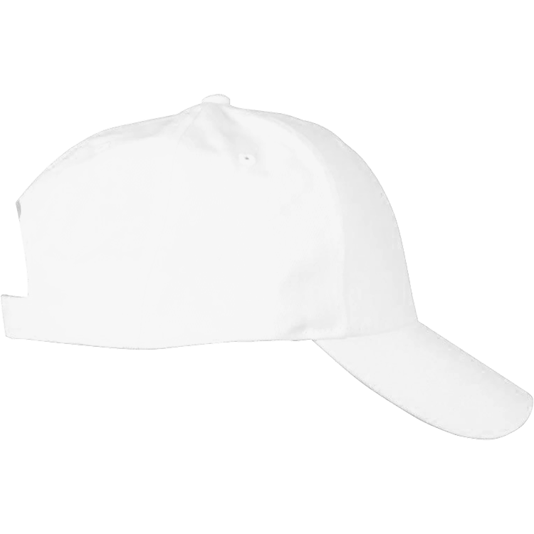 WHITE EMBROIDERED SOLID BRUSHED TWILL HAT