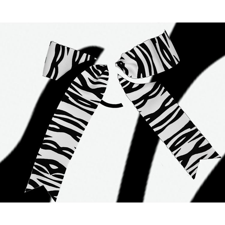 2 Layer Zebra Bow