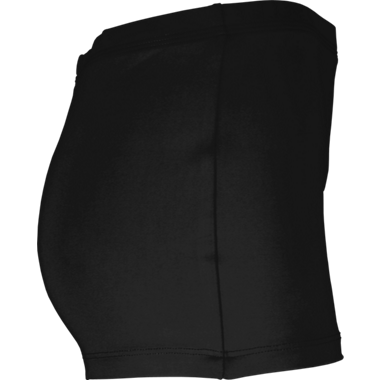 Boy-Cut Rhinestone Shorts - Black