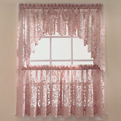 JCPenney Home™ Shari Lace Rod-Pocket Shaped Valance
