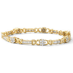 2 CT. T.W. Diamond Flower Bracelet