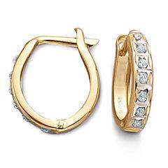 14K Diamond Fascination™ Hoop Earrings