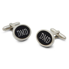 Engravable Matte Black Cufflinks