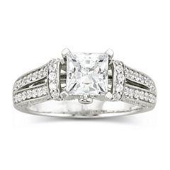 DiamonArt® Cubic Zirconia Engagement Ring