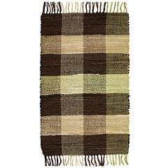 Agra Plaid Washable Cotton Rectangular Rug