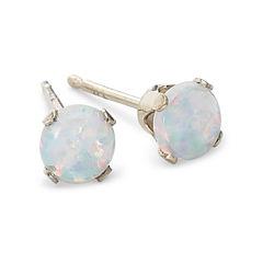Lab-Created Opal Stud Earrings