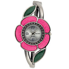 Decree® Fashion Hinged Cuff Flower Watch