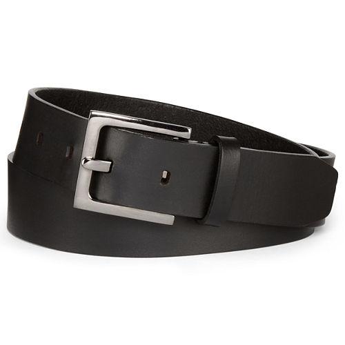 Mixit™ Hematite Buckle Leather Belt