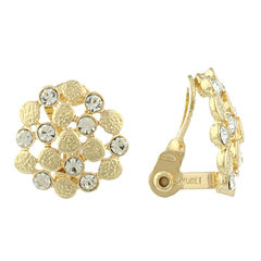 Liz Claiborne® Crystal-Accent Button Clip-On Earrings
