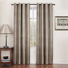 Sun Zero™ Emory Crushed Printed Stripe Room-Darkening Grommet Curtain Panel