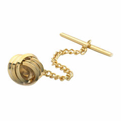 Love Knot Gold-Plated Tie Tack