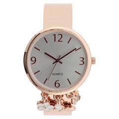 Mixit Womens Rose Goldtone Bangle Watch-Jcp2978rbf