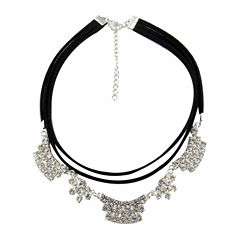 Vieste Rosa Silver Over Brass Choker Necklace