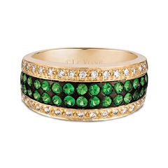 LIMITED QUANTITIES Grand Sample Sale™ by Le Vian® Forest Green Tsavorite™ &  1/4 CT. T.W. Vanilla Diamonds® 14K Honey Gold™ Ring