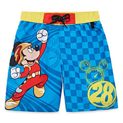 Disney Boys Mickey Mouse Trunks-Big Kid