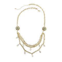 Capelli of New York Multi-Row Bib Necklace