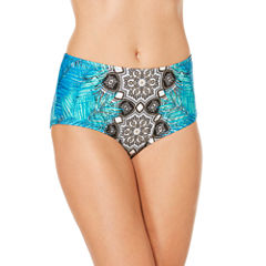 Laundry By Design Geometric High Waist Swimsuit Bottom
