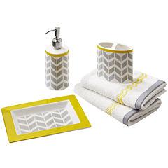 Intelligent Design Elle 5-pc. Geometric Bath Accessory Set