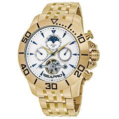 Sea-Pro Montecillo Mens Gold Tone Bracelet Watch-Sp5134