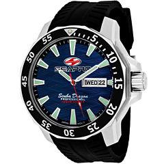 Sea-Pro Scuba Diver Limited Edition Mens Black Strap Watch-Sp8316