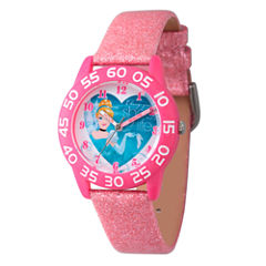 Disney Cinderella Girls Pink Strap Watch-W003261