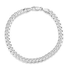 Made In Italy Sterling Silver 22 Inch Chain Necklace