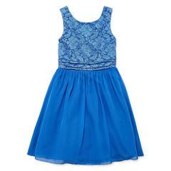 Speechless Sleeveless Fit & Flare Dress - Big Kid Girls Plus