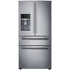 "Samsung ENERGY STAR® 25 cu. ft. 33"" Wide 4-Door French Door Refrigerator"