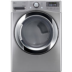 LG 7.4 cu. ft. Ultra Large Capacity Gas SteamDryer™ with NFC Tag On