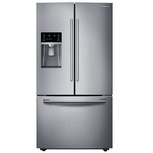 Samsung ENERGY STAR® 23 cu. ft. 36 Wide French Door Counter Depth Refrigerator with Water and Ice Dispenser