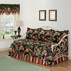 Waverly® Charleston Chirp Noir Reversible Daybed Quilt Set