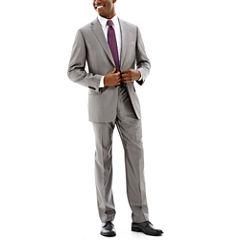 Claiborne Grey Shimmer Herringbone Suit-Classic Fit