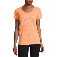 Made For Life Short Sleeve V Neck T-Shirt-Womens