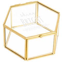 Cathy's Concepts Shine Bright Gold Glass Keepsake Box