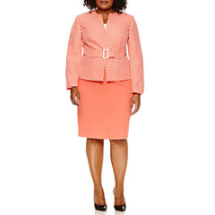 Isabella Long Sleeve Skirt Set-Plus