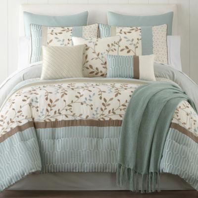 home expressions hampton 10pc comforter set