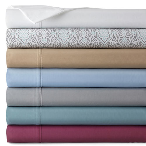 JCPenney Home™ 300tc Easy Care Solid Sheet Sets and Pillowcases