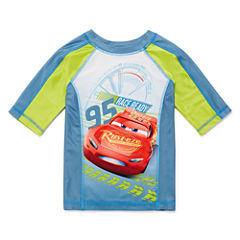 Disney Boys Cars Rash Guard-Big Kid