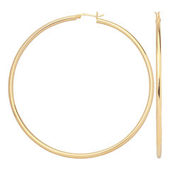 14K Gold Over Silver 80mm Hoop Earrings