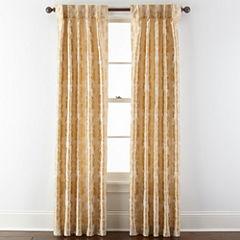 Royal Velvet® Supreme Damask Pinch Pleat/Back-Tab Curtain Panel