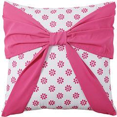 VCNY Amanda Square Bow Decorative Pillow