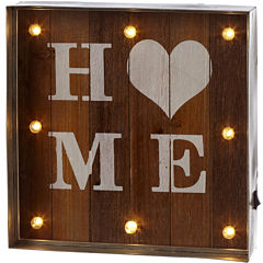 Home LED Galvanized Framed Marquee Wall Art