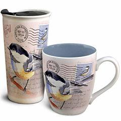 American Expedition Home and Away Vintage Chickadee Mug Set 2pc